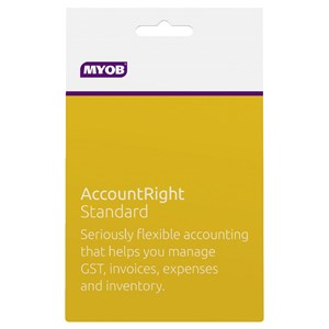 MYOB Account Right Standard for Windows Based PC Only - 1 Year